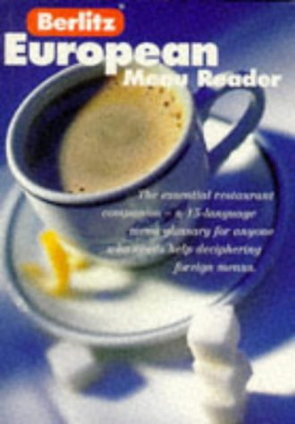 9782831562452: Berlitz European Menu Reader (Berlitz European Guides)