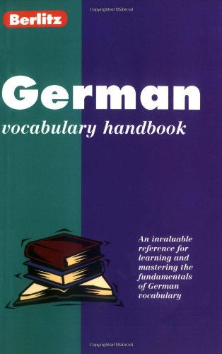 9782831563923: German Vocabulary Handbook (Berlitz Language Handbooks) (German Edition)