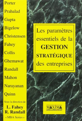 9782840010920: Les paramètres essentiels de la gestion stratégique des entreprises