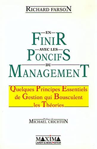 9782840011088: En finir avec les poncifs du management : Quelques principes essentiels de gestion qui bousculent les théories