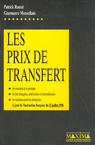 Les Prix de transfert: Rassat, P.;Monsellato, G.