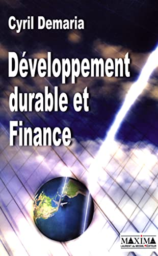 developpement durable et finance: Cyril Demaria