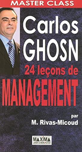 9782840015055: Carlos ghosn 24 lecons managem (Master Class)