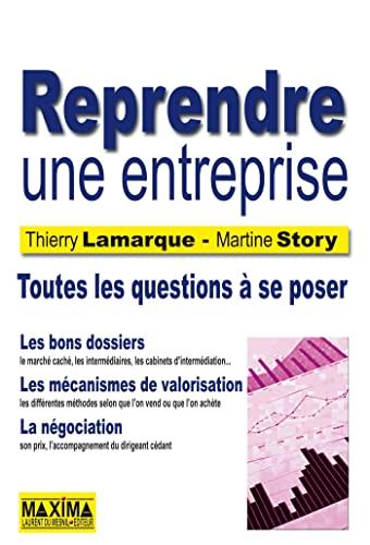 reprendre une entreprise: Martine Story, Thierry Lamarque