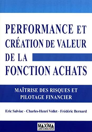 """""""performance achats ; pilotage financier et contrôle interne"""": Eric Salviac"""