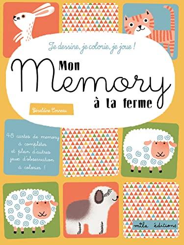 9782840068747: Je Dessine Colorie Je Joue - Mon Memory des Animaux de la Campagne