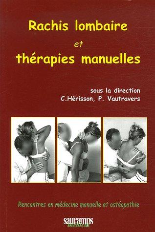 rachis lombaire et thérapies manuelles: P Vautravers