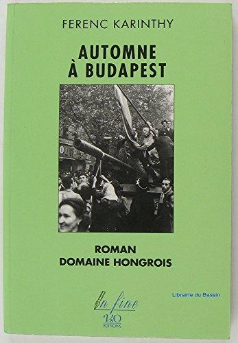 9782840460084: Automne � Budapest