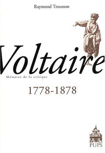 9782840505822: Voltaire 1778-1878