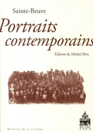 Portraits contemporains (French Edition): Sainte-Beuve