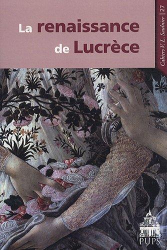 La renaissance de Lucrèce: Frank Lestringant