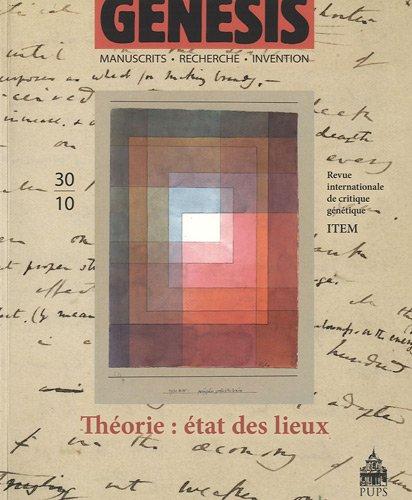 Genesis No 30 Theorie Etat des lieux: Collectif