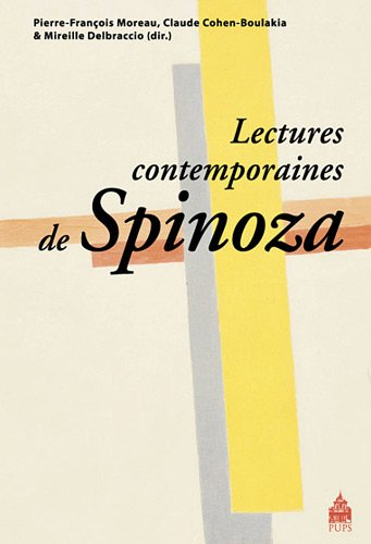 9782840508762: Lectures contemporaines de Spinoza