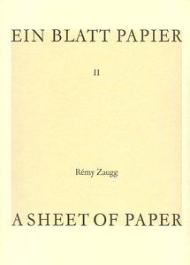 9782840660002: A Sheet of Paper / Ein Blatt Papier II