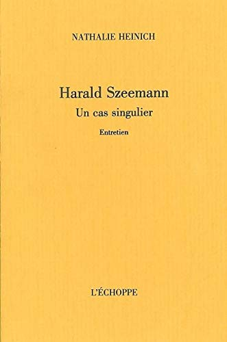 9782840680598: Harald Szeemann : Un cas singulier