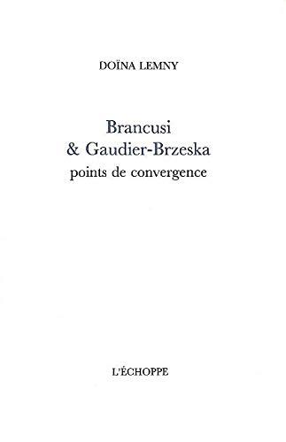 9782840682189: Brancusi et Gaudier-Brzeska: Points de Convergence