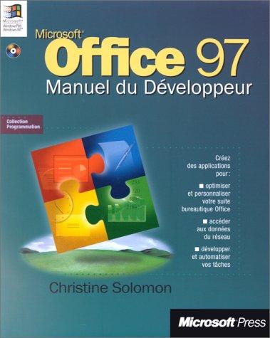 9782840822806: Manuel du développeur office 97