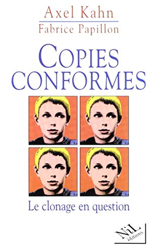 9782841110872: Copies conformes: Le clonage en question (French Edition)