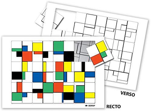 Puzzle a la Manière de ...Mondrian (French Edition): Serge Boeche