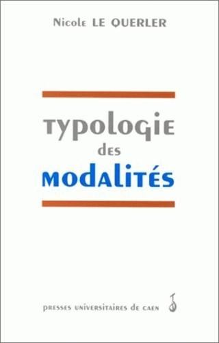 9782841330546: Typologie des modalités