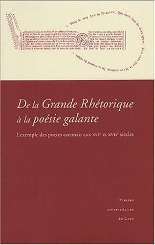 De la Grande Rhetorique a la poesie