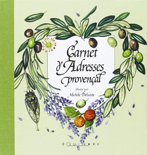 9782841354184: carnet d'adresses provencal vert