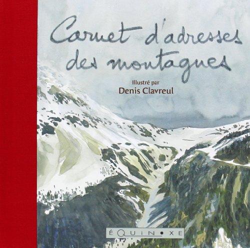 9782841356379: (rouge) carnet d'adresses des montagnes