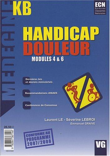 """9782841367146: """"handicap douleur ; modules 4 & 6"""""""