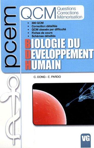 Biologie du développement humain. 300 QCM. Correction détaillée. QCM class&...