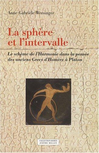 Sphère et l'intervalle (La): Wersinger, Anne Gabri�le