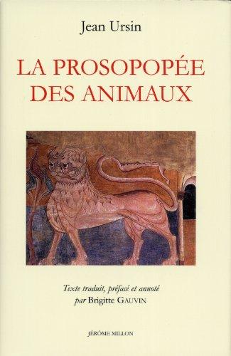 La Prosopopée des animaux : Edition bilingue: Jean Ursin