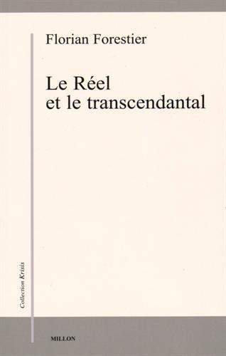9782841373192: Le R�el et le transcendantal (Krisis)