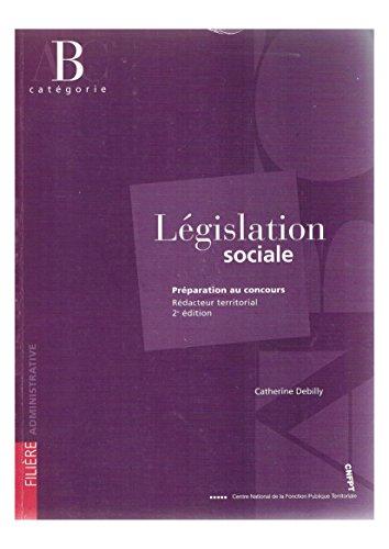 9782841432394: L�gislation sociale : Pr�paration au concours R�dacteur territorial