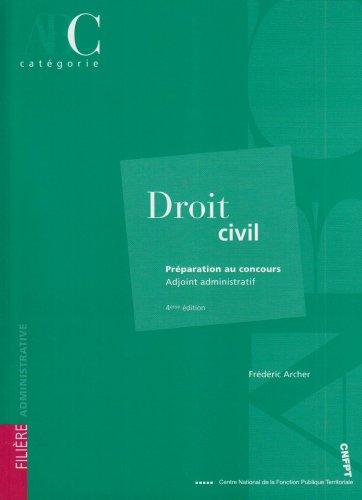 9782841432905: Droit civil : Adjoint administratif catégorie C