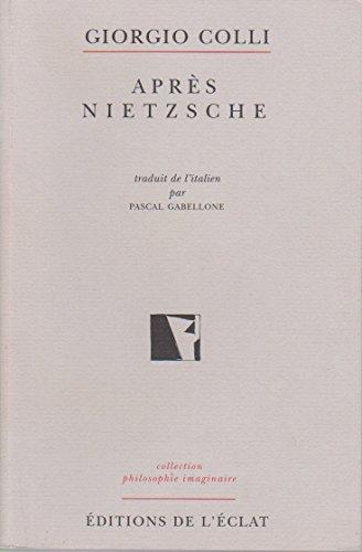 Après Nietzsche Colli, Giorgio