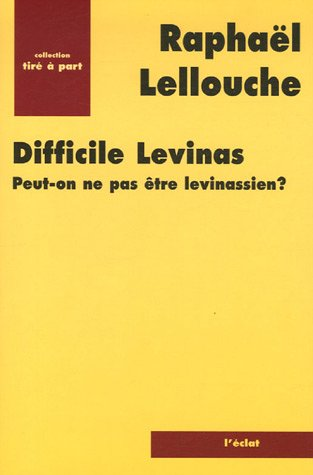 9782841621231: Difficile Levinas (French Edition)