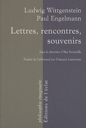 Lettres, rencontres, souvenirs: Wittgenstein, Ludwig