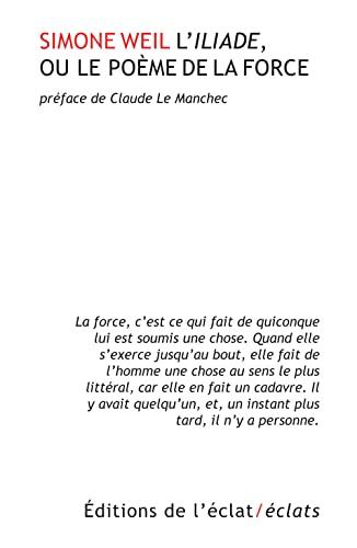 9782841623389: L'Iliade ou le poème de la force