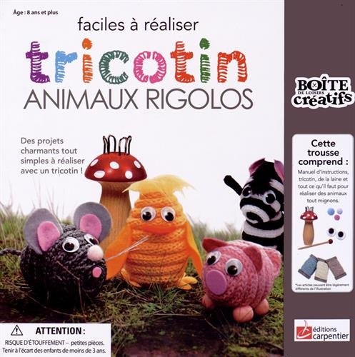 TRICOTIN ANIMAUX RIGOLOS (COFFRET): COLLECTIF