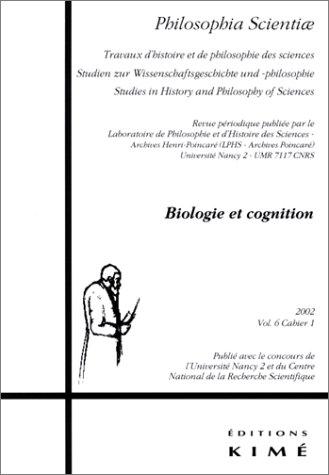 Philosophia Scientiae, v. 06, cahier no 01: Collectif