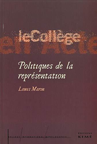 Politiques de la représentation: Marin, Louis