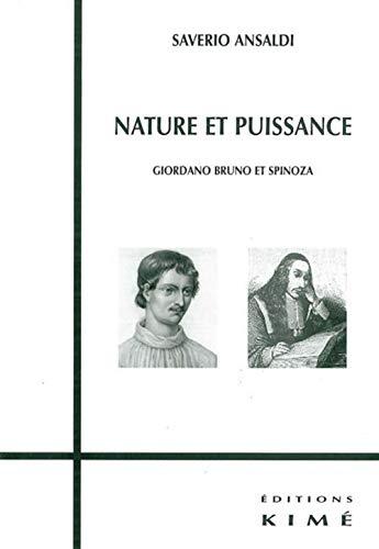 9782841743896: Nature et puissance : Giordano Bruno et Spinoza
