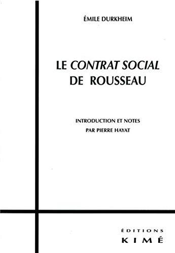 CONTRAT SOCIAL DE ROUSSEAU: DURKHEIM,EMILE
