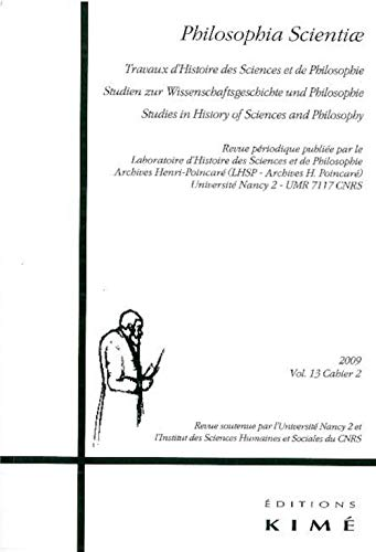 Philosophia Scientiae 2009 Vol. 12 Cahier 2: Collectif