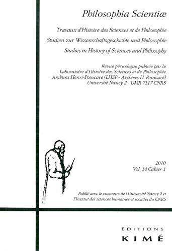 PHILOSOPHIA SCIENTIAE T14 CAHIER 1: COLLECTIF 2010