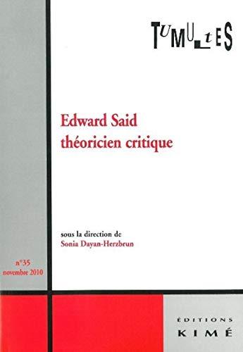 Edward Said theoricien critique: Collectif