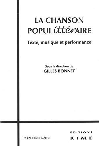 CHANSON POPULITTERAIRE -LA-: BONNET GILLES