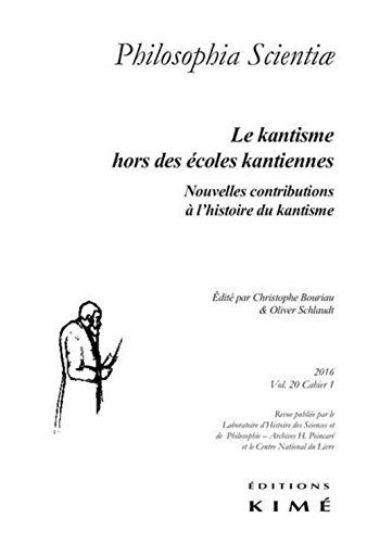 Philosophia Scientiae, v. 20, cahier 01: Collectif