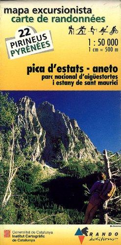 9782841820313: MAPA EXCURSIONISTA-CARTA DE RANDONNÉES PICA D'ESTATS I ANETO: Pica D'Etats/Aneto No. 22 (INST.CARTOGRÀFIC CATALUNYA)
