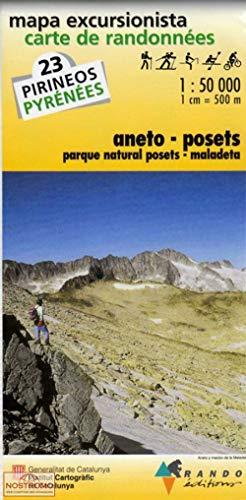 9782841821426: MAPA EXCURSIONISTA-CARTA DE RANDONNÉES ANETO-POSETS: Aneto/Posets/Maladeta No. 23 (INST.CARTOGRÀFIC CATALUNYA)